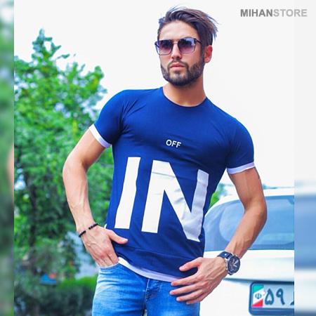 تی شرت مردانه طرح OFF IN